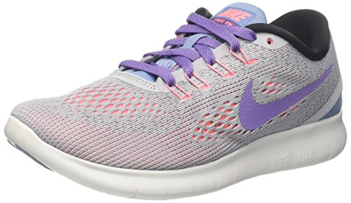 Nike Damen Free RN Laufschuhe, Grau (Wolf Grey/Purple Earth/Work Blue/Lava Glow/Off White), 41 EU (Socken Comfort Low)