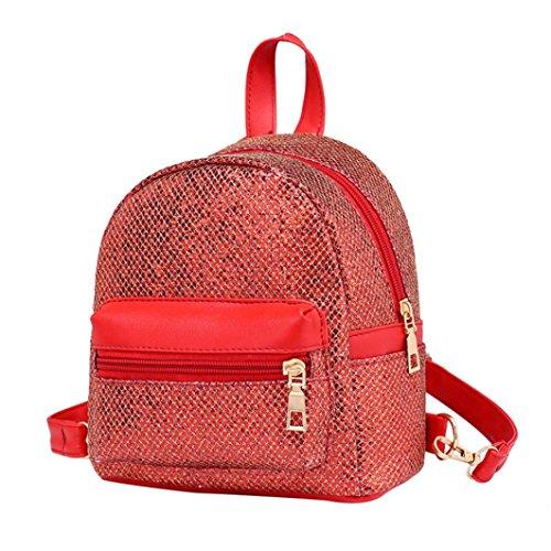 SANFASHION Damen Mode Mädchen Bling Pailletten Mini Rucksack Weibliche Reise Rucksack Schultasche