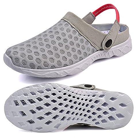 QANSI Damen Hausschuhe Pantoffeln Clogs Wasserschuhe Strandschuhe Badsschuhe Slipper