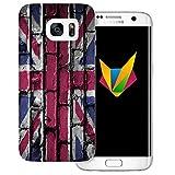 dessana England transparente Silikon TPU Schutzhülle 0,7mm dünne Handy Soft Case für Samsung Galaxy S7 Edge England Flagge