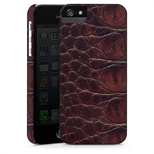 Apple iPhone X Silikon Hülle Case Schutzhülle Krokodilleder Look Krokodil Muster Premium Case StandUp