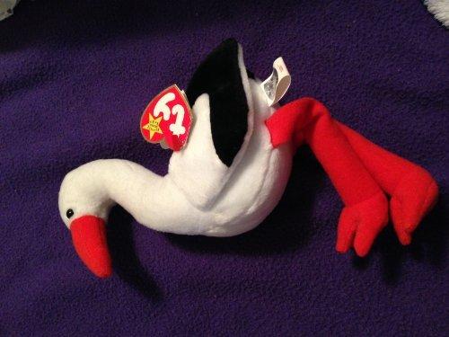 Ty Stilts Beanie Baby Bird Stork with Rare ERROR Tags