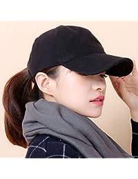 Yukun Gorra Sombrero Beige Mujer Otoño e Invierno Gorra de algodón Gorra de  béisbol Caliente Gruesa 67cba60af92