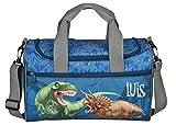 Sporttasche mit Namen | inkl. NAMENSDRUCK | Motiv Dinosaurier T-Rex Dino | Personalisieren &...