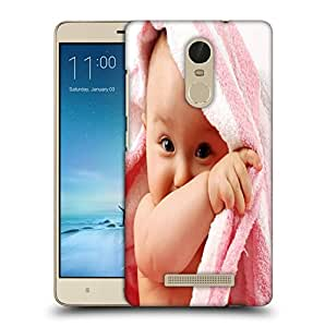 Snoogg Baby On Towel Designer Protective Back Case Cover For REDMI NOTE 3