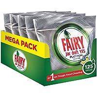 Fairy Platinum 125 Detersivo in Caps per Lavastoviglie, Limone, Pacco da 5x25 Pastiglie