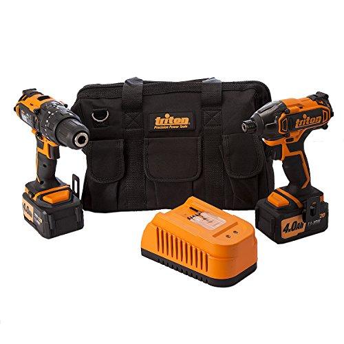 Triton T20-Doppelpack, 20 V, T20TP01, 4,0 Ah (20v Lithium-batterie-ladegerät)