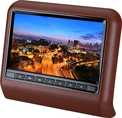 CPDZ Auto Kopfstützen Display 9-Zoll tragbarer DVD-Player Digitaler Touchscreen Multimedia-System Auto Monitor 9 Zoll MP5 HD,Brown Digital Lcd Vcr