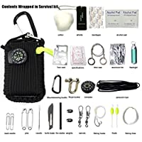 Mindbreaker Wilderness survival kit-Multifunction Outdoor Survival Gear Kit-Outdoor Ultimate Survival Kits Emergency Kits,First Aid, Fire Starter, Emergency Whistle, and More!(30 Piece )