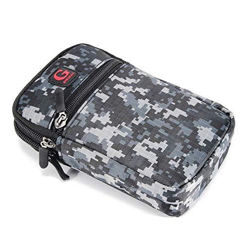 DFVmobile Mehrzweck Tarnung Gürteltasche Militär Marine für=> HTC Desire 700 DUAL > Schwarz (17.5 x 10 cm) - Desire 700 Handy-fall, Htc