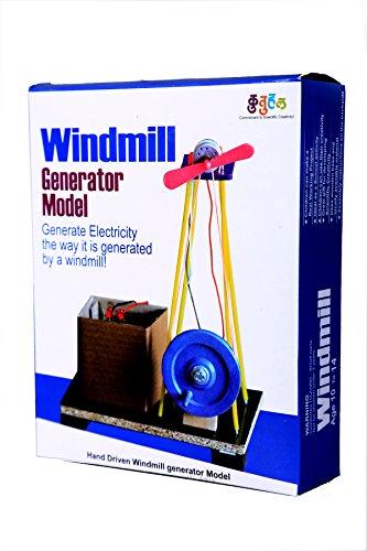 Do It Yourself Wind Mill Making Educational Toy Kit windmill generator model 2 in 1