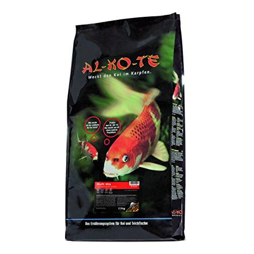AL-KO-TE, 1-Jahreszeitenfutter für Kois, Sommermonate, Schwimmende Pellets, 6mm, Hauptfutter Multi Mix, 7,5 kg