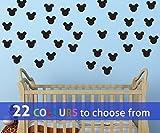 TopZog Lot de 18 Stickers muraux en Forme de tête de Mickey Mouse 7,6 cm pour bébé...