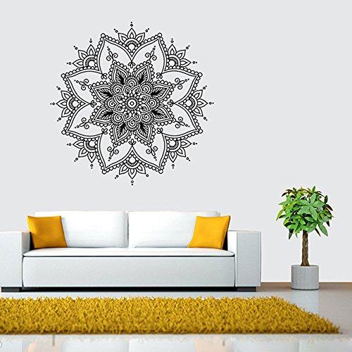 Zegeey Mandala Flower Indian Schlafzimmer Wandtattoo Aufkleber Wand Vinyl Familie