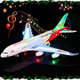 WP Airplane Toy Kids Toy Plane Airbus with Flashing Lights, Realistic Aircraft Jet