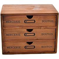 Contenitore Cassetto, hipsteen 3cassetti in legno Storage Box ufficio scrivania cassetti organizzatori NUOVA ZELANDA Pino - Desktop Hanging File