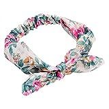 Qinlee Stirnband Blumenmuster Haarbänder Haar Accessoires Yoga Sport Kopftuch Mädchen Bandana Outdoor Sport Modegeschenk Frisuren Haar Band Gestylten Haaren