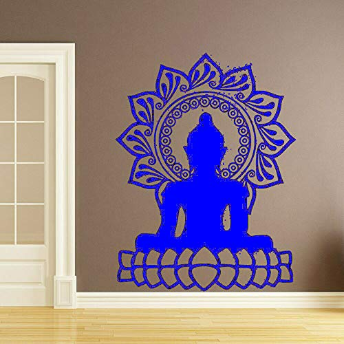 Zaosan Creative Buddha Lotus Wall Sticker Vinilo Impermeable Pared Decoración para el hogar Accesorios Sala de Estar   42x55cm