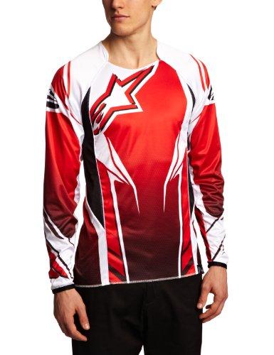 Alpinestars Downhill Trikot A-Line Longsleeve Jersey rot/schwarz (Größe: L) (Alpinestars Long Sleeve Shirt)