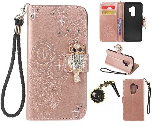 Preisvergleich Produktbild Galaxy S9 Hülle,PU Leder Hülle für Samsung Galaxy S9 Tasche Schutzhülle Handyhülle + Stöpsel Staubschutz (9)