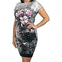 Berry Unwiderstehliches Kleid mit Blumen-Print und Kurzarm Buro Business  London Look Gr. 38