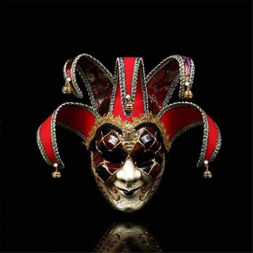 Jkhhi Masken Maskerade Maske Harz Musik Karneval Wand Ostern Dekoration Geschenk Halloween Europäische und Amerikanische Atmosphärenkleider