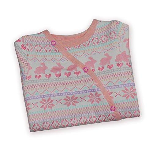 Kadambaby- Pink bunny baby body suit /footed romper /Newborn sleepsuit / onesies for baby boy/ Premium baby sleepwear (0-3 Months)
