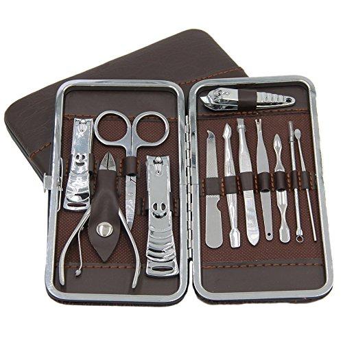 Mumugo Soins des ongles (12PCS) Professionnel Tondeuses à ongles en acier inoxydable pour homme femme, Soins manucure pédicure Oreille Pick Nail.