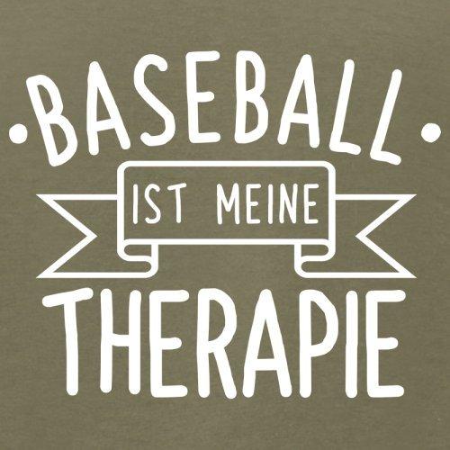 Baseball ist meine Therapie - Herren T-Shirt - 13 Farben Khaki