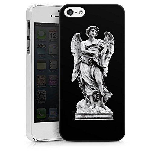 Apple iPhone X Silikon Hülle Case Schutzhülle Engel Statue Angel Hard Case weiß