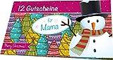 RNK 28729 Weihnachtliches Gutscheinheft für Mama, 12 Gutscheine zum Heraustrennen