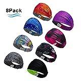 4 Stück Sport-Stirnband Nicht rutschende Sportschweißbänder Feuchtigkeitsabführende Kopfbedeckung Stirnbänder Perfekt für Radfahren, Laufen, Yoga, Fitnesstraining für Herren und Damen. (8 color 2)