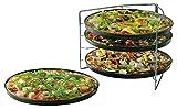 Pizza Backset 5 tlg. mit 4 Pizzahalter Pizzablech Backblech Set Blech Backen