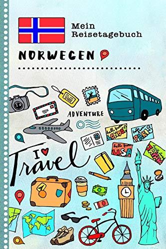 Norwegen Mein Reisetagebuch: Kinder Reise Aktivitätsbuch zum Ausfüllen, Eintragen, Malen, Einkleben A5 - Ferien unterwegs Tagebuch zum Selberschreiben -  Urlaubstagebuch Journal für Mädchen, Jungen