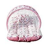 #8: KiddosCare Baby Mattress with Mosquito Net Sleeping Bag Combo (Pink)