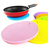 Round Shaped Silicone Table Cup Hot Plate Dish Coaster Mat Pad