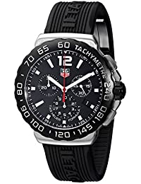TAG Heuer Men's CAU1110.FT6024 Formula 1 Black Dial Black Rubber Strap Quartz Watch