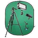 Walimex Pro V-Log Set 1 (für Video Blog/Youtube Filme vor Green-Screen)