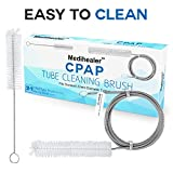 CPAP Tube Reinigungsbürste - 7 Feet Flexible Edelstahl Plus Handliche Bürste, Geeignet für 22mm Durchmesser Schläuche - 2 Packs