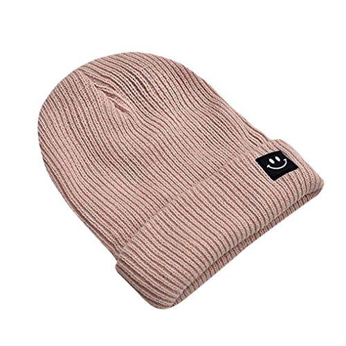 Strickmützen Hüte Winter Mütze Winter Hut Cartoons Gesicht Hut Männer Frauen Hiphop Cap Von Xinan (❤️, Beige)