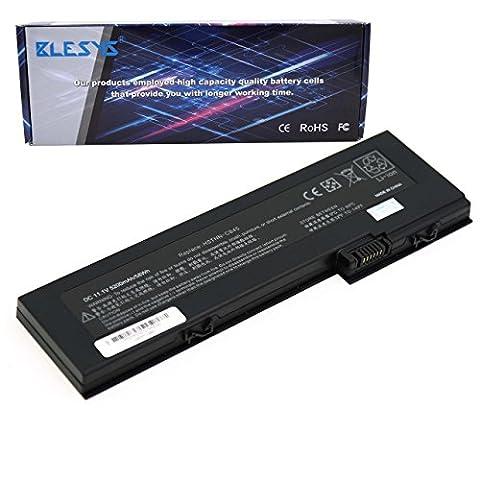 BLESYS - 5200mAh HP Business Notebook 2710p batterie, HP EliteBook 2730p, 2740p Série remplacement de la batterie d'ordinateur portable pour 436426-311 436426-351 436426-751 436426-752 454668-001 AH547AA HSTNN-CB45 HSTNN-OB45 HSTNN-W26C HSTNN-XB43 HSTNN-XB45 HSTNN-XB4X NBP6B17B1
