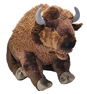 Cuddlekins- Bisonte de Peluche, 76 cm, Color marrón, Wild Republic 19307