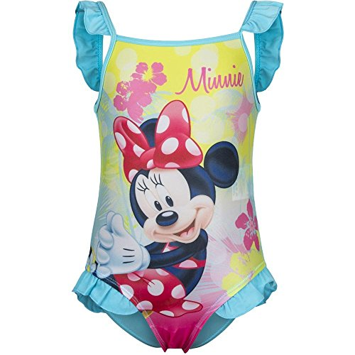 4786 Kinder Baby Badeanzug Disney Minnie Mouse Minnie Maus Mädchen Beachwear (blau, 24 Monate)