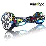 Windgoo Hoverboard 6.5' Scooter eléctrico con Auto Equilibrio, Hoverboard con Bluetooth y LED, por la borda con certificación UL 2272