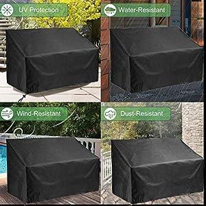 Guilty Gadgets 3-Sitzer Gartenbank-Abdeckung, wasserdicht, gewebtes Polyestergewebe, UV- und wasserabweisend, 162 x 66 x 90 cm von Guilty Gadgets auf Gartenmöbel von Du und Dein Garten