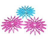 #5: TULMAN Flower Style Hot mat, Hot Pot stand, Hot Plate Stand (Color May Vary) (Pack of 3)