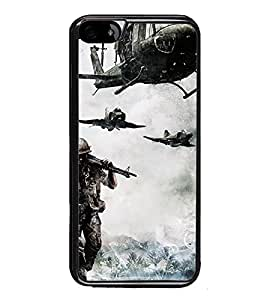 PrintVisa Designer Back Case Cover for Apple iPhone 6 (Helicopters Soldier With Gun Fighter Jets)