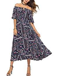801bd6a5274110 Ufatansy Damen Sommerkleider Spitze Kleid Strandkleid Swing Boho Kleid  Abendkleider