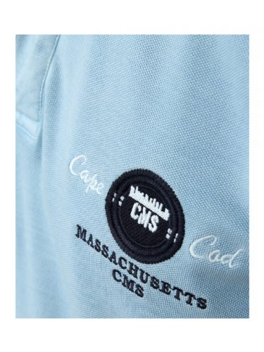 CasaModa - Herren Polo Shirt kurz, hellblau im Vintage-Look* hellblau marine