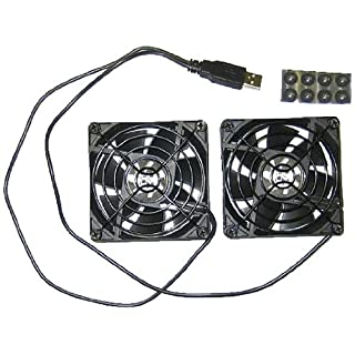 Coolerguys Dual 80mm USB Fan Set with Grills